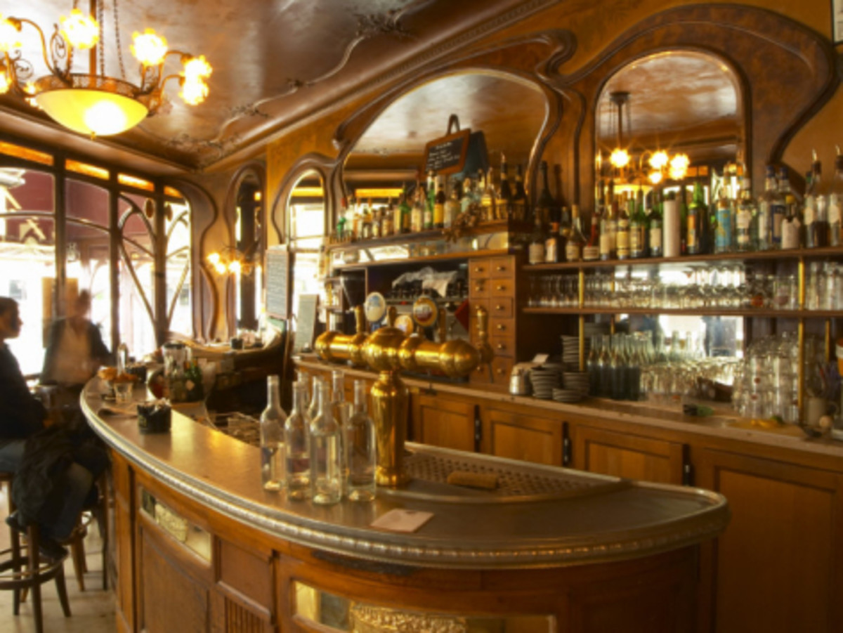 Bistrot Du Peintre is a wonderful example of Art Nouveau Period Décor in Paris, France