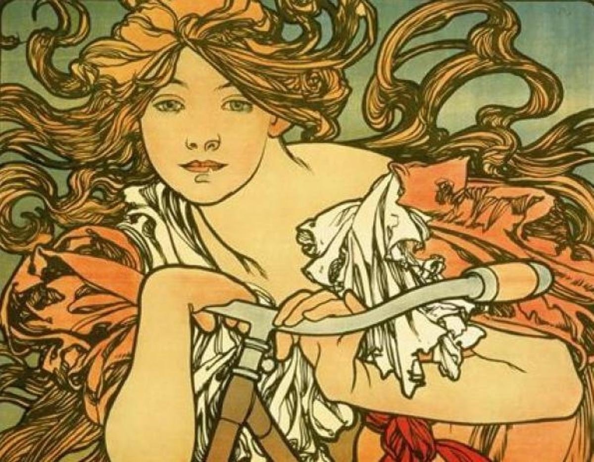 Detail from Mucha's Bicycle Ad, 1897