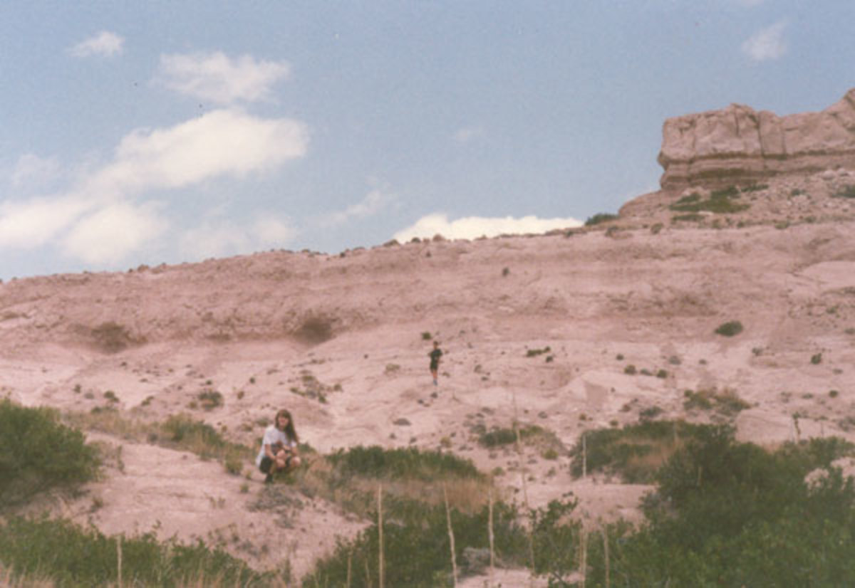 Sarah and Jason exploring Scott's Bluff as we traveled home along the Oregon Trail Route