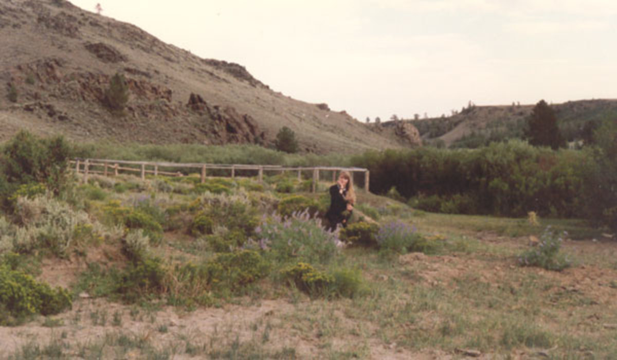 Sarah looking lovely on the nature trail in South Pass City, Wyoming