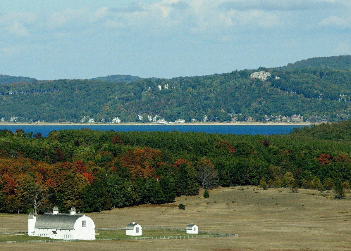 Historic D.H. Day farm in Sleeping Bear Dunes National Lakeshore, Michigan.