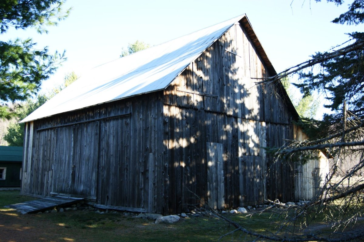 The wood siding of old barns was sometimes left natural and would weather to a beautiful silver/grey.