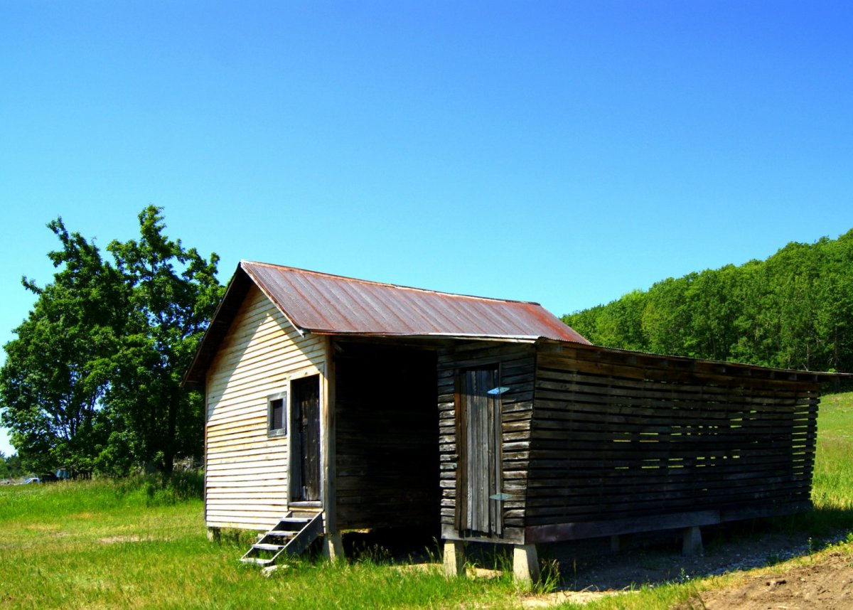 Corn crib and shed