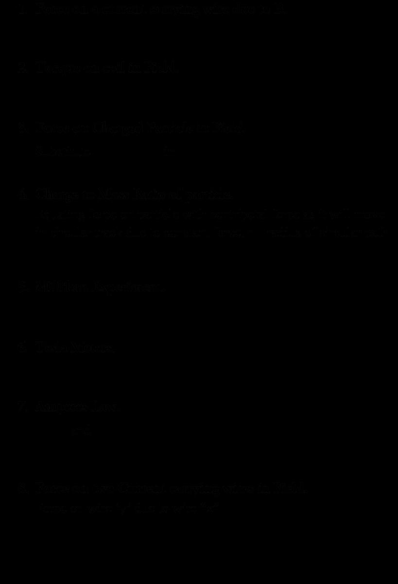 A Level Physics Formula Sheet - Electromagnetism