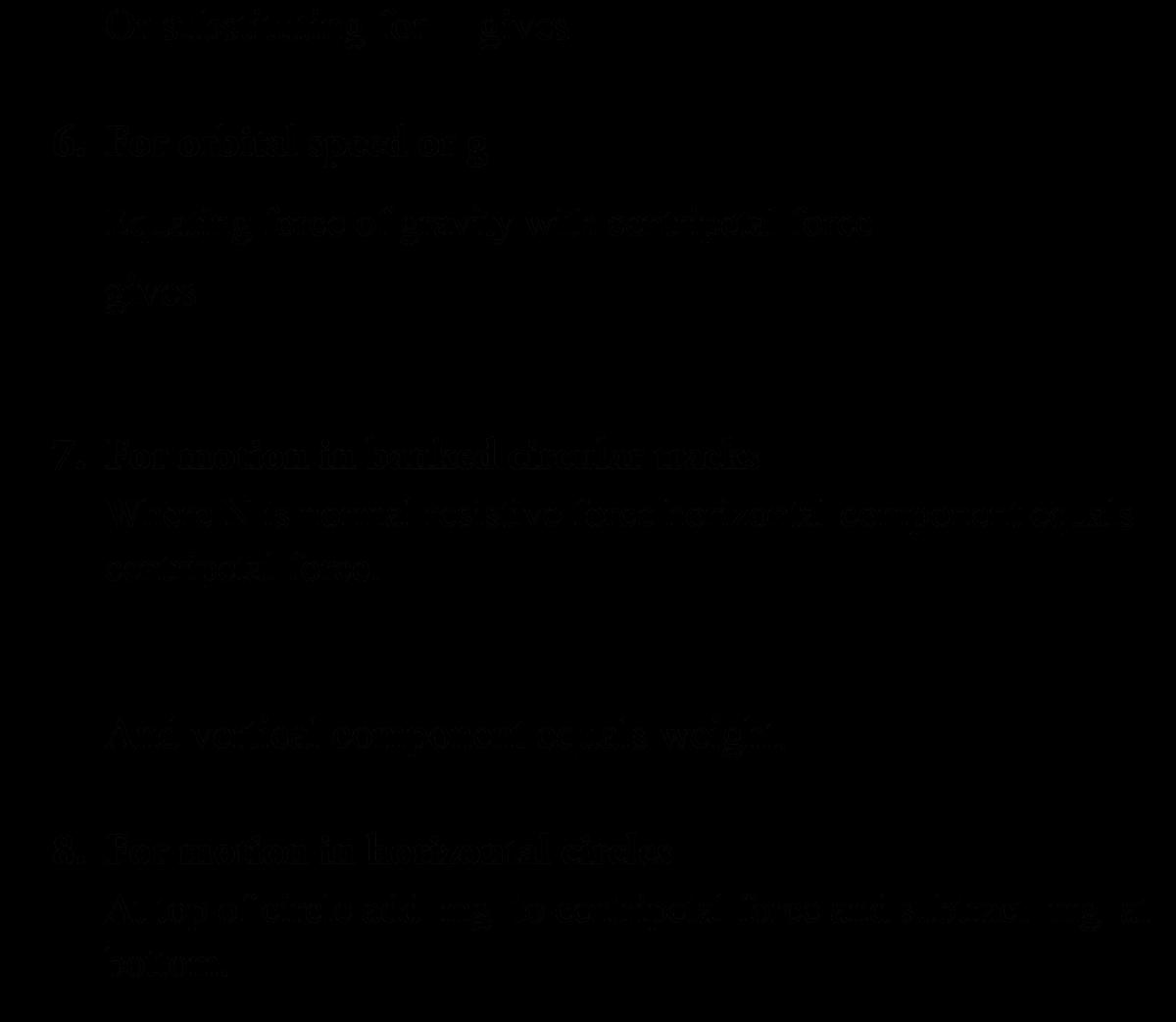 A Level Physics Formula Sheet - Circular Motion
