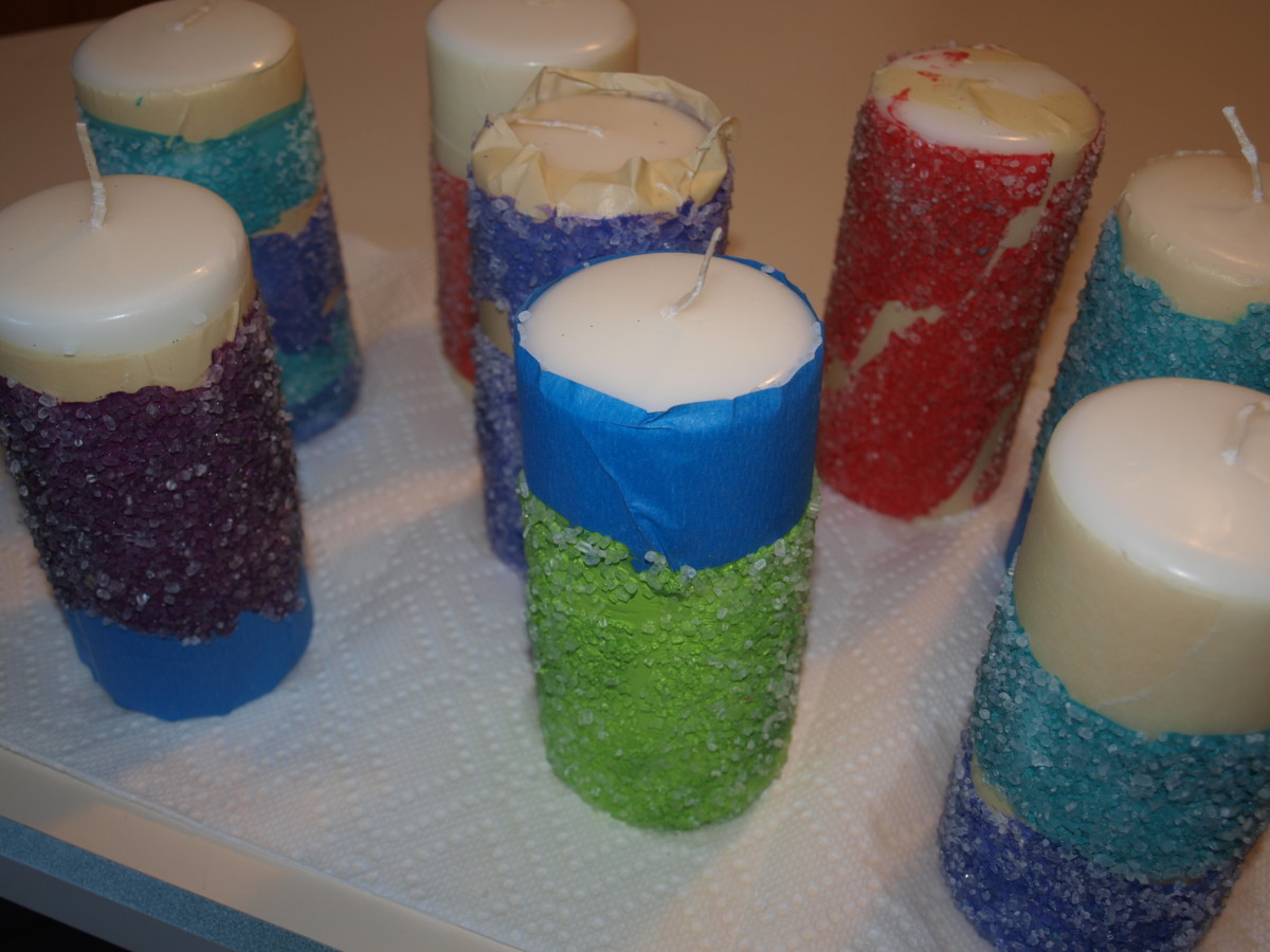 Figure 5 - Set finished candles aside to dry.
