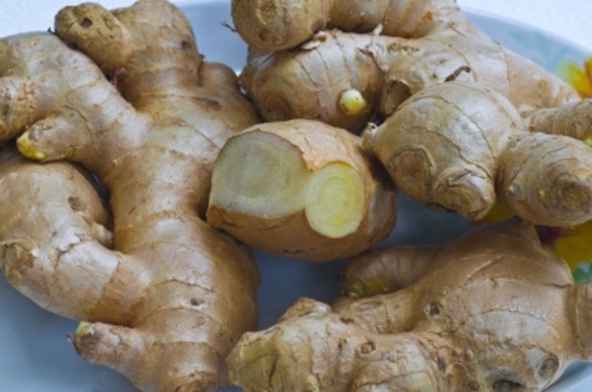 sliced or grated ginger is one of the best spices to use in an air freshener at home.