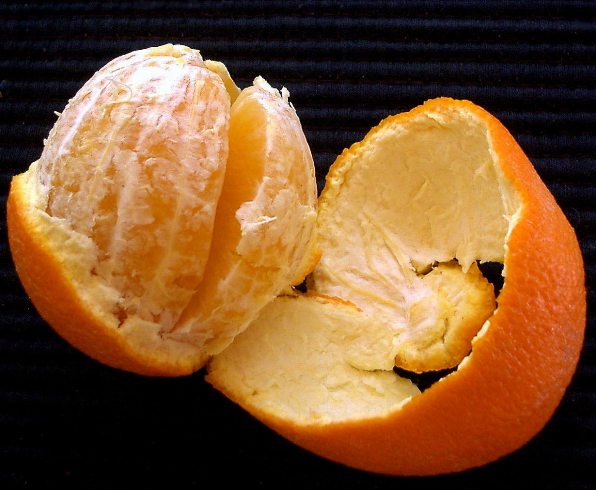 don't let the fragrant orange skin go to waste. store it in the fridge or refrigerator for air fresheners.