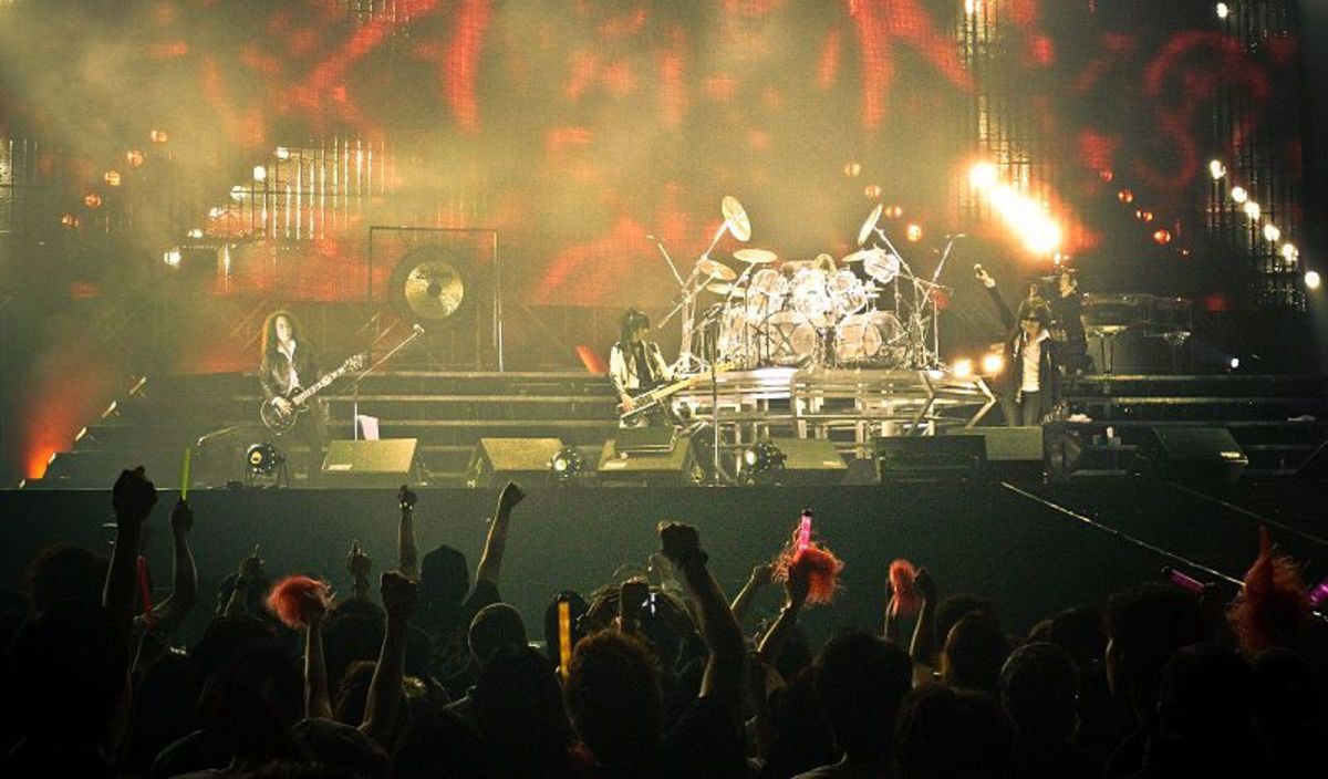 Japanese Rock Concert - X Japan (group) playing in Hong Kong in 2009.