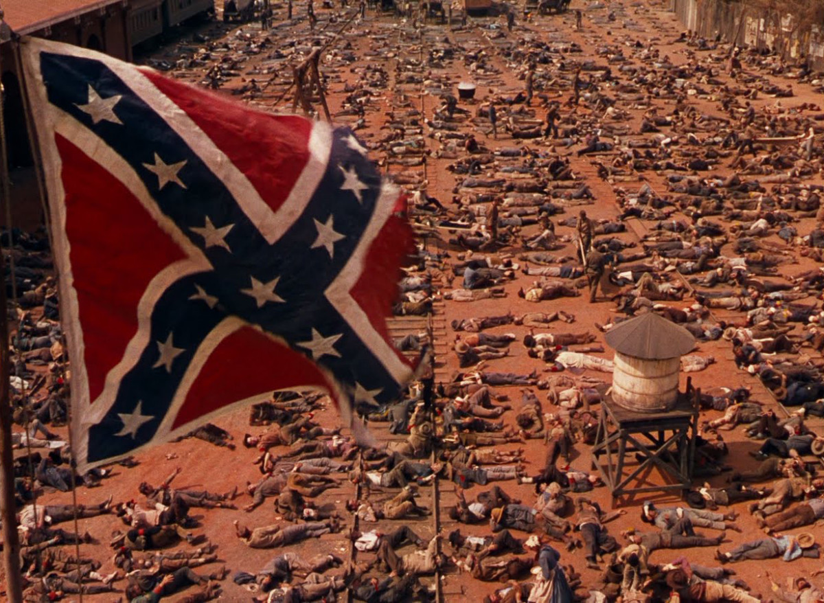 The dead and dying Confederate soldiers.