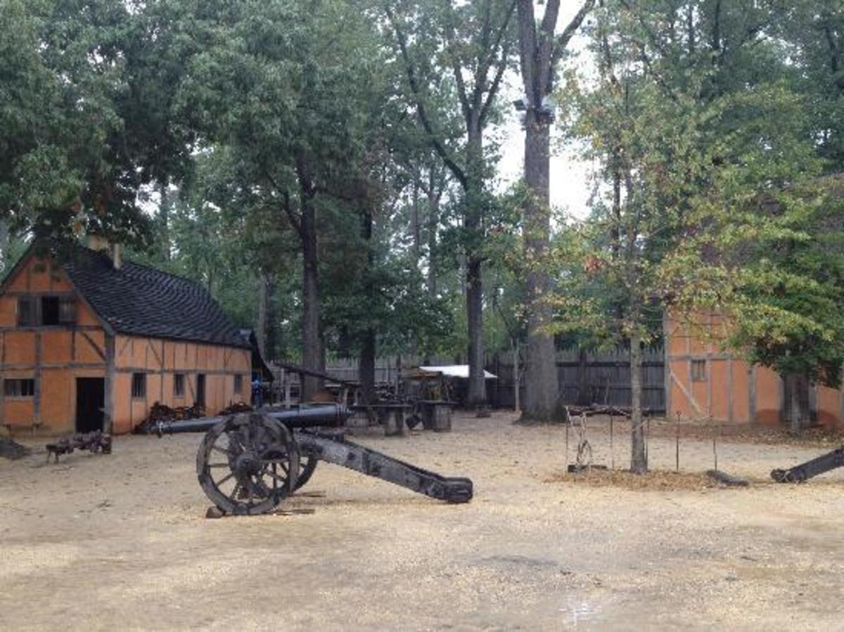 The fort at Jamestown