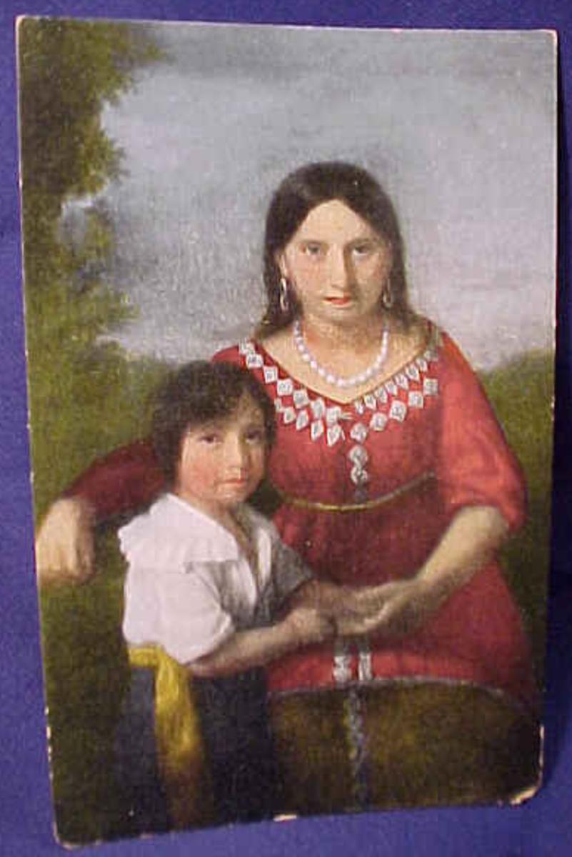 Pocahontas with their son Thomas