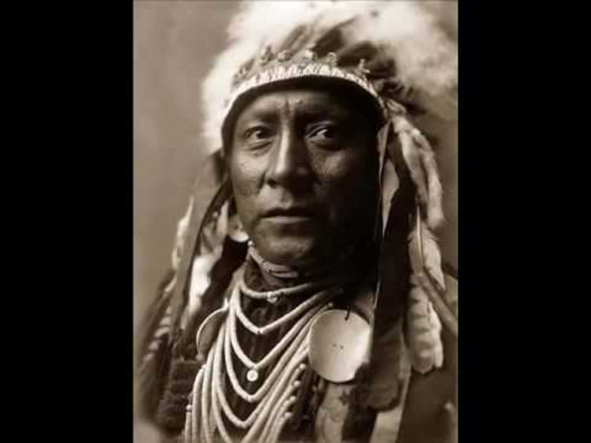 A fine portrait of Pocahontas father Powhattan
