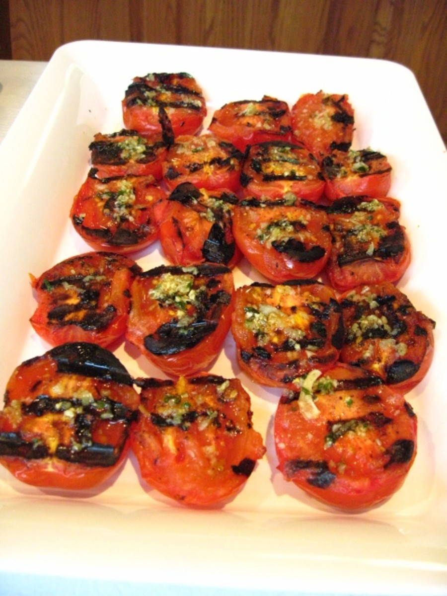 Garlic Grilled Tomatoes - Juicy and Easy Recipe