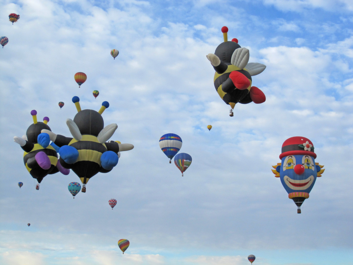 Funny Hot Air Balloons with Faces