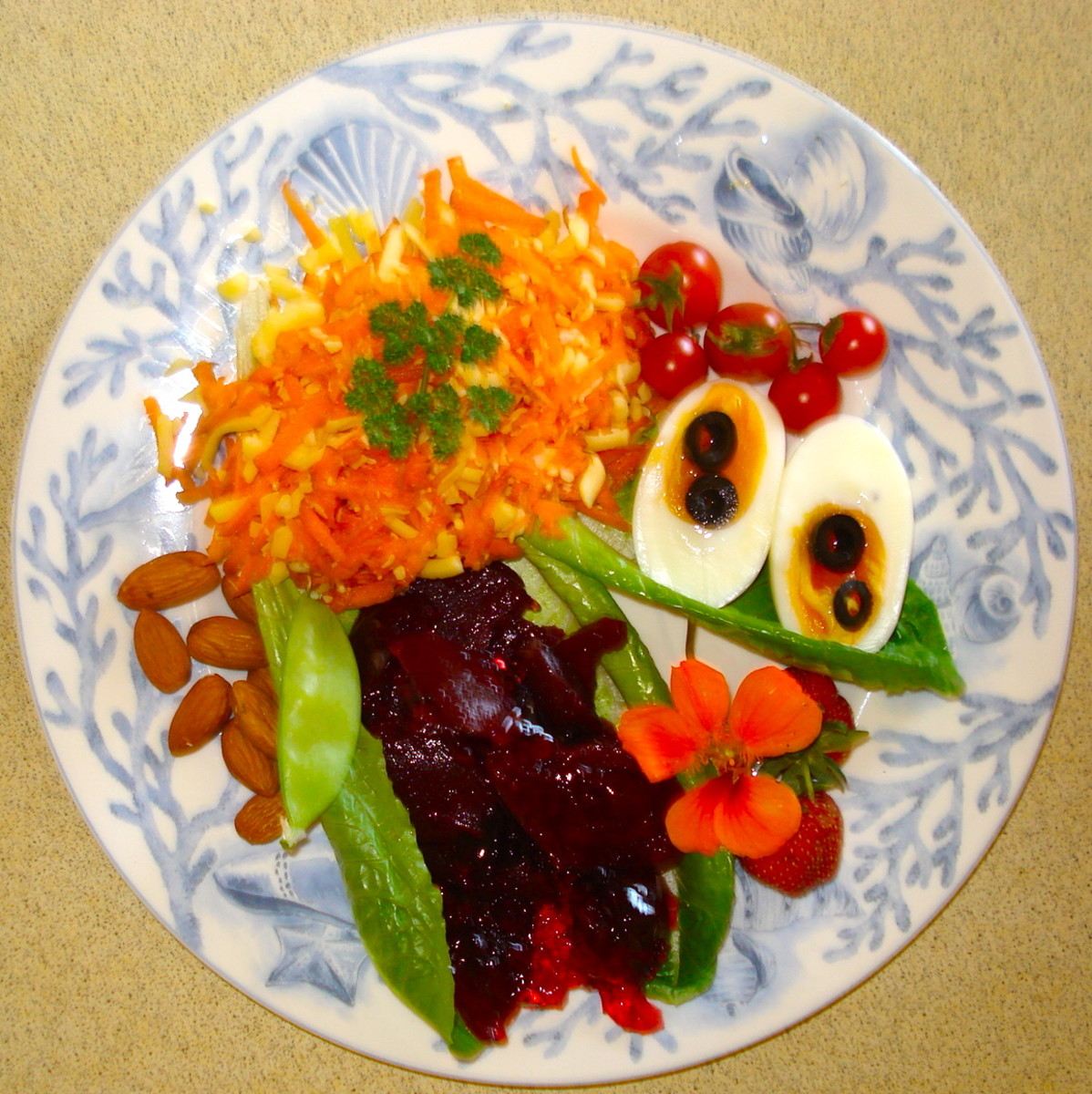 A Summer Salad with Jellied Beetroot Most of the Ingredients are From my Garden