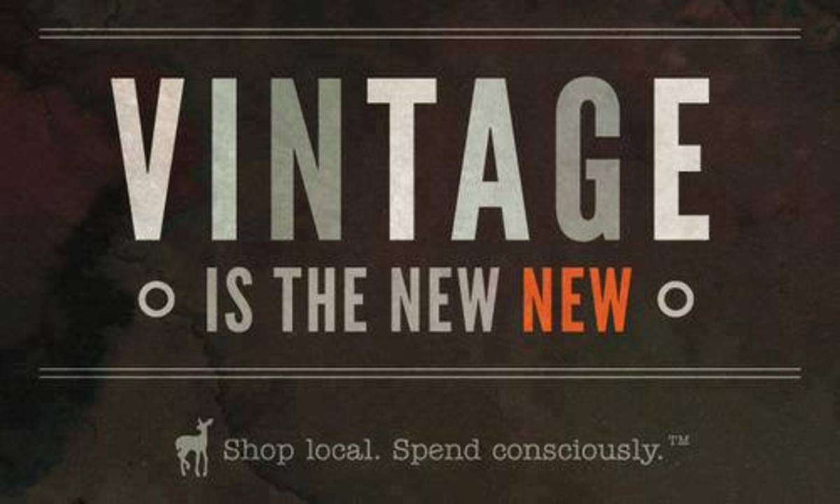 Vintage is the new black