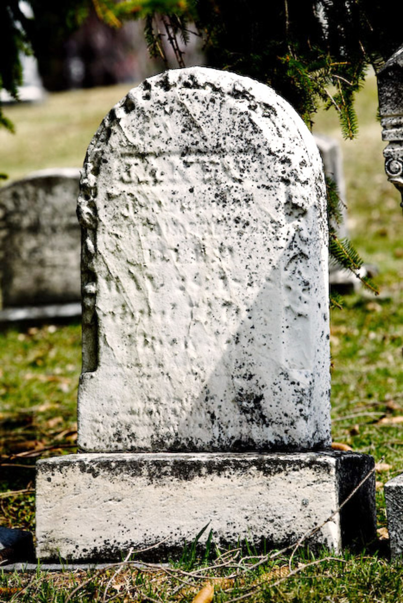 Before too long, this headstone will be completely unreadable. A cemetery survey will help future generations know what was inscribed on the stone.