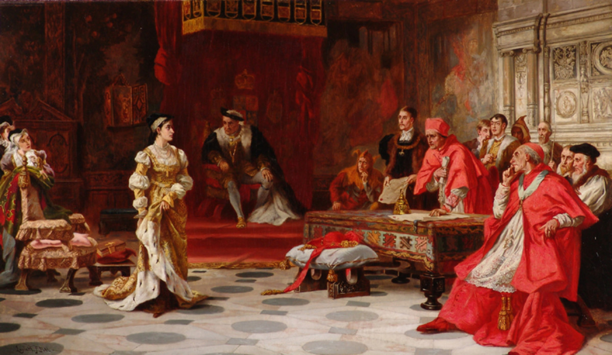Katherine of Aragon Denounced Before King Henry VIII and His Council
