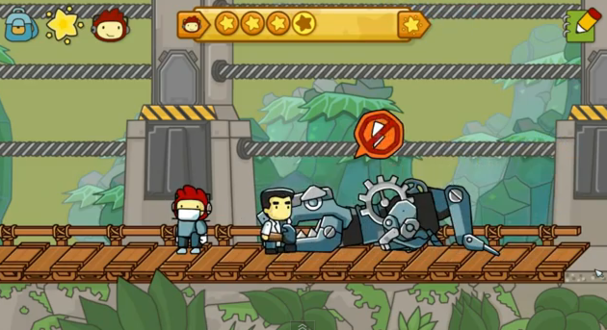 scribblenauts-unlimited-walkthrough-sir-guillemets-castle-and-the-saurus-park