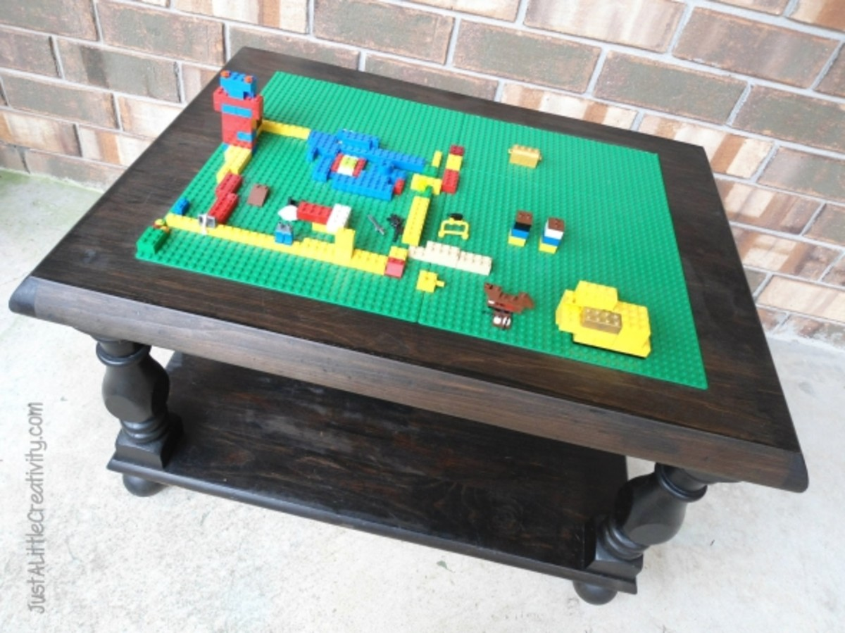 This DIY Lego Table was made from an old coffee table via www.justalittlecreativity.com. You can find lots of old coffee tables in your local thrift stores.