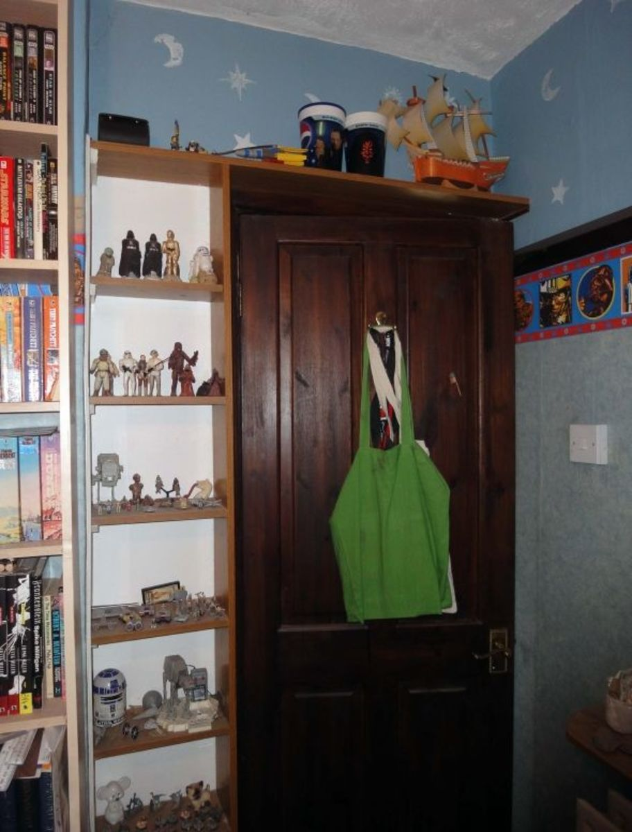 Door surround display shelf unit