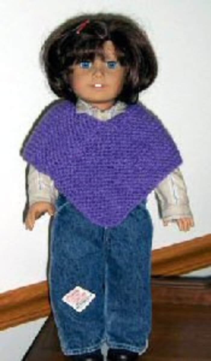 Free Knitting Pattern For Dolls Cape : American Girl Dolls and 18 Inch Dolls Free Knitting Patterns HubPages