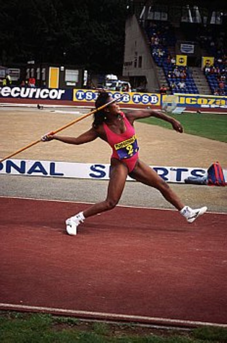 Javelin throwing, an example of projectile motion in athletics. (source: corbisimage.com)