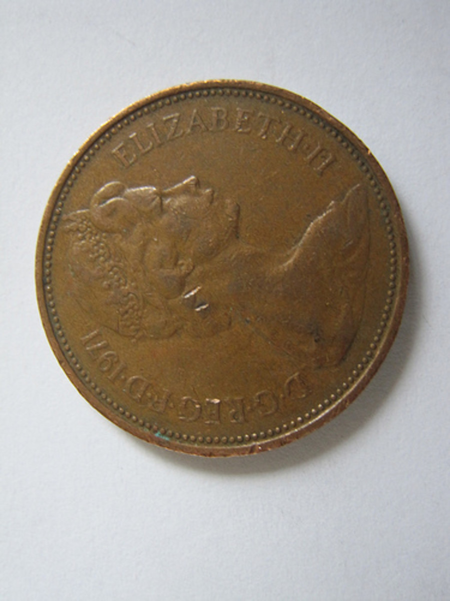 A British 2p Coin - Size 25.9mm diameter