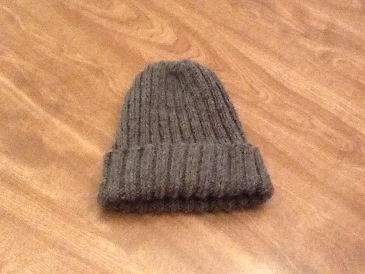 Basic Knit Hat Folded Brim
