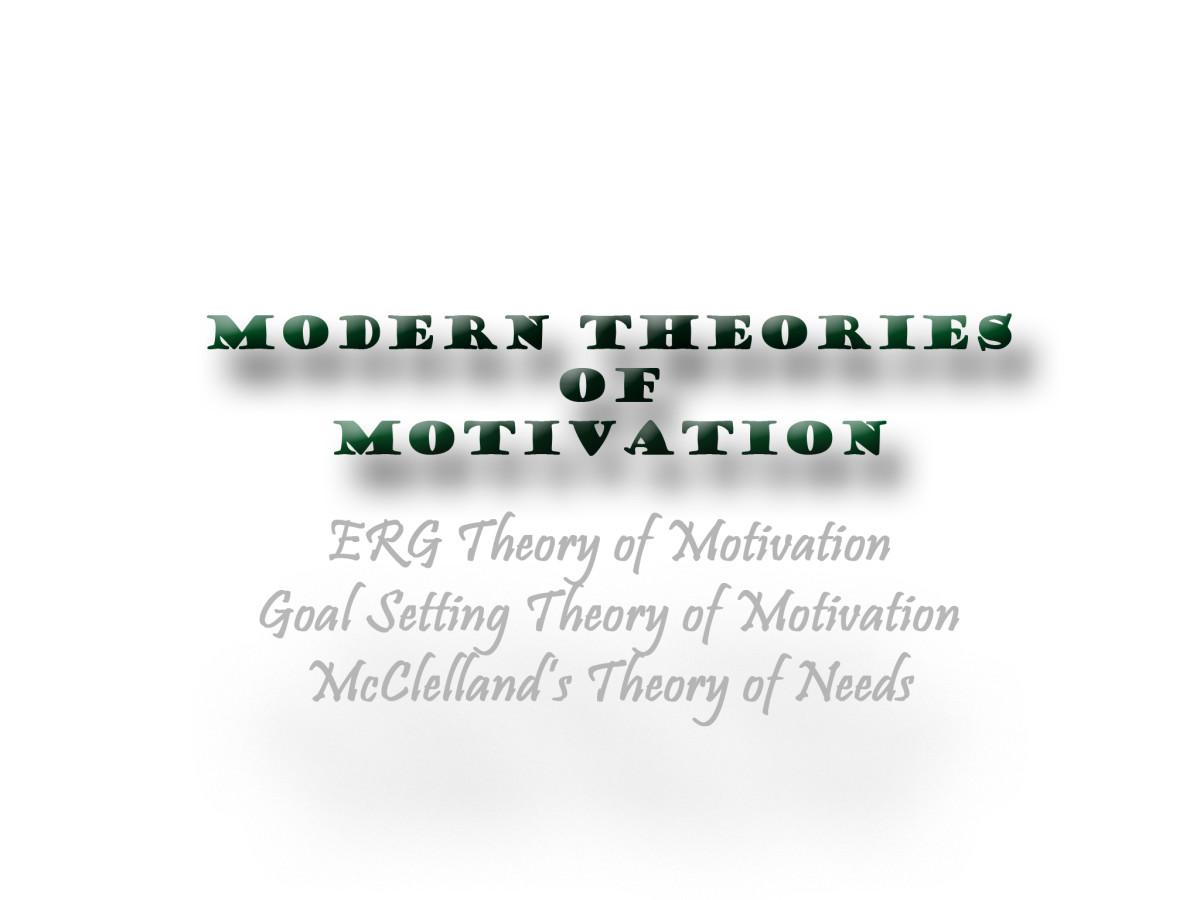 Modern Theories of Motivation