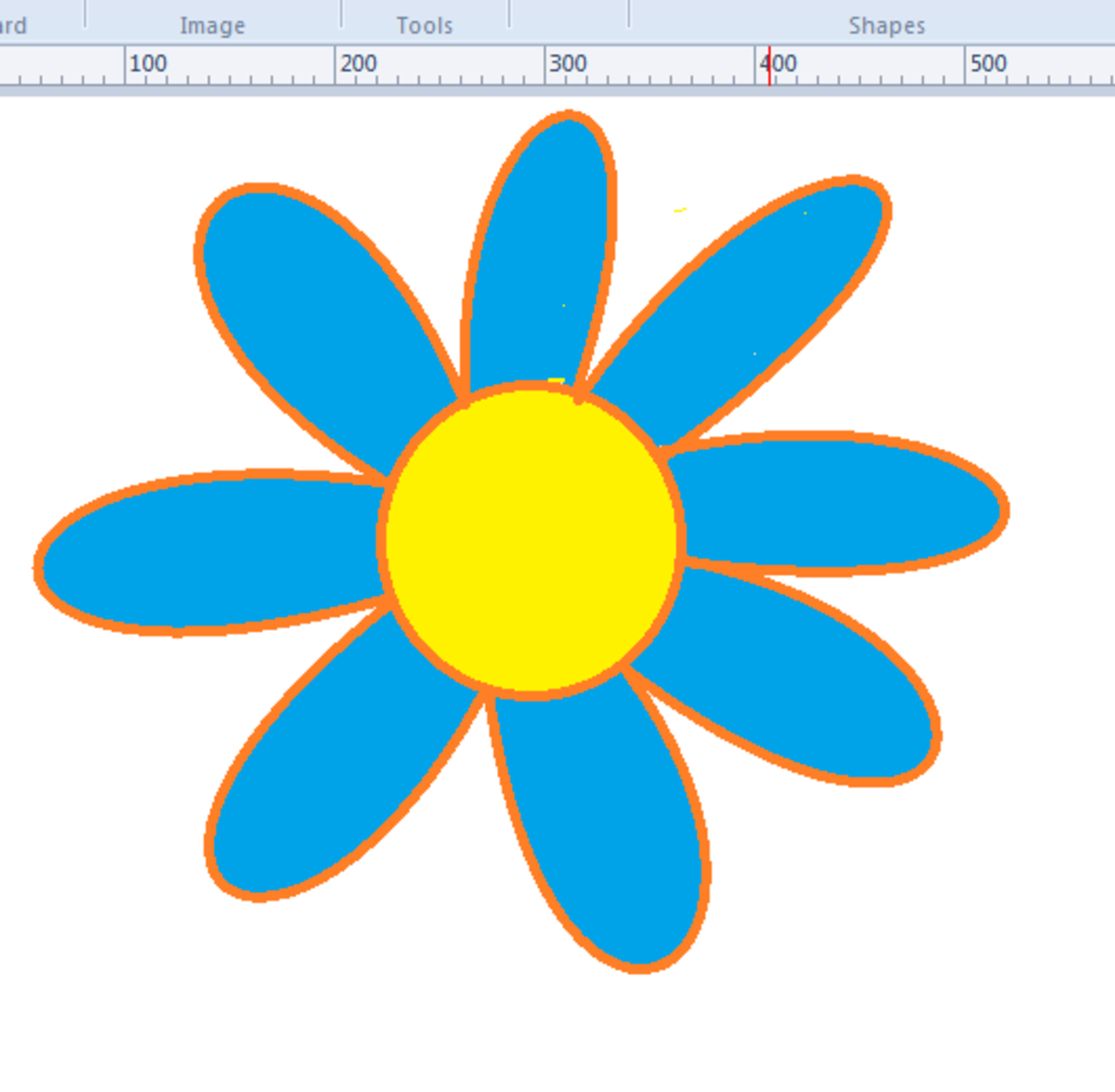 Fill each petal with color using the Bucket tool.