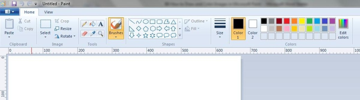 MS Paint Toolbar