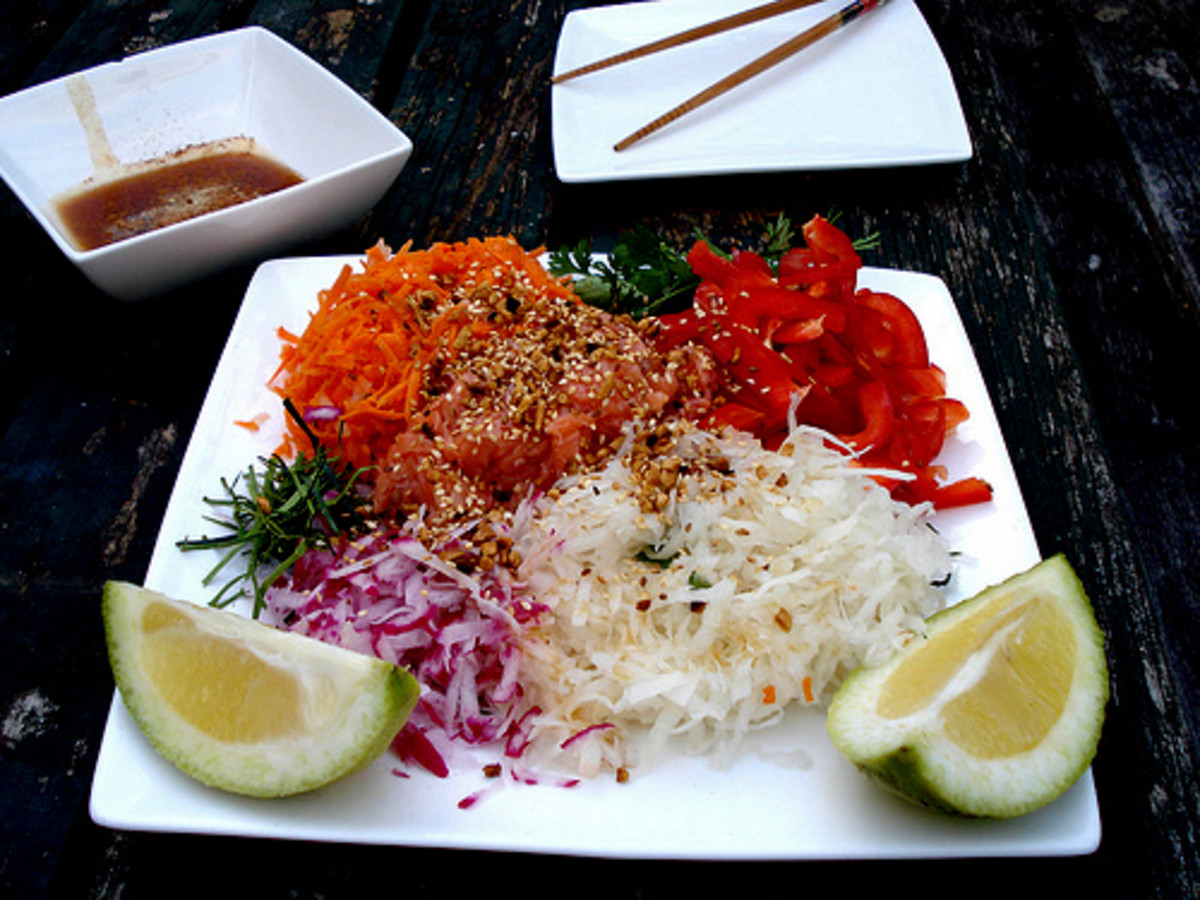 Another version of yee sang with different base ingredients