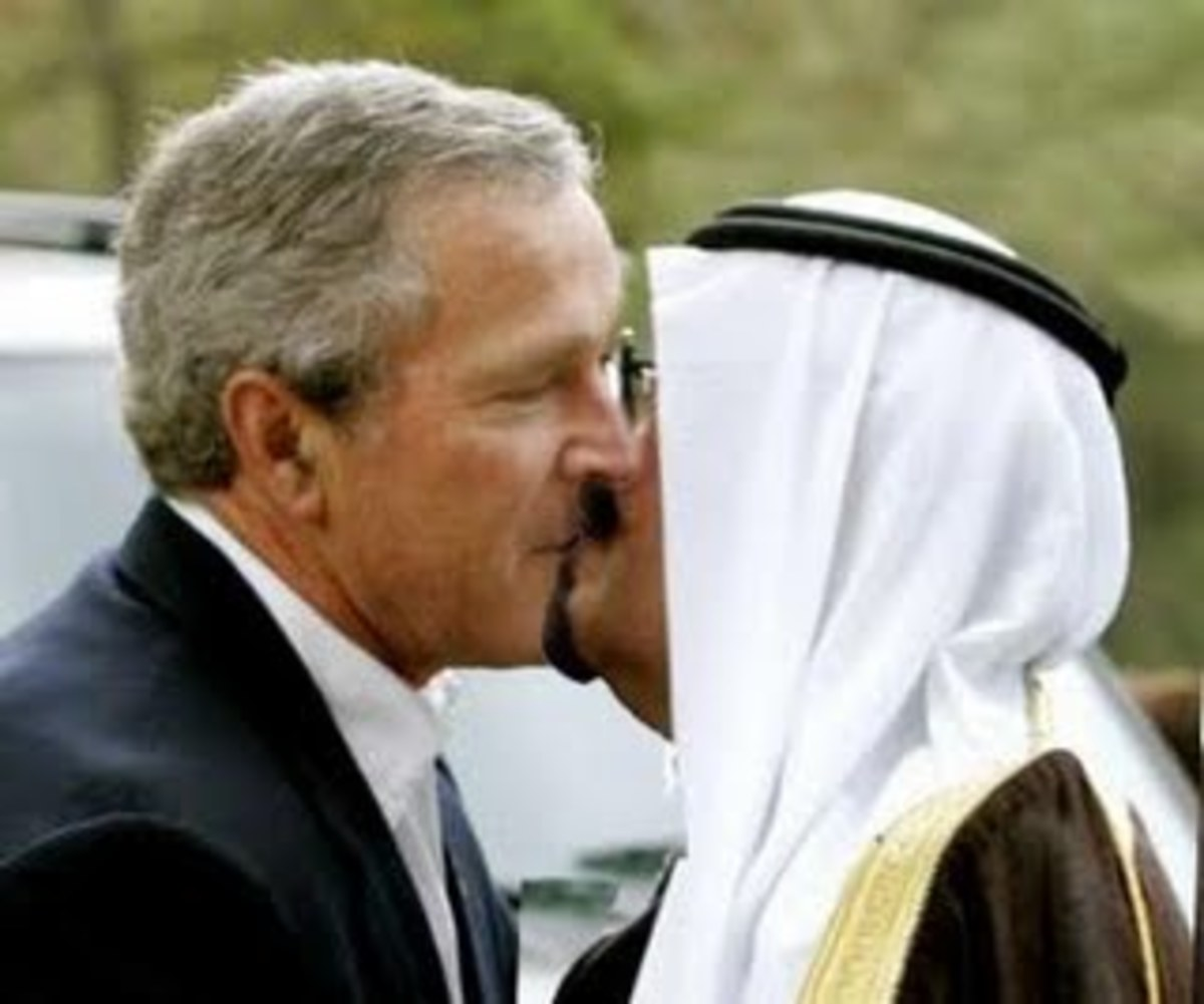George W. Bush's Passionate Kisses from King Abdullah