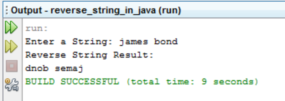 Java Program: Reverse String in Java Using For Loop