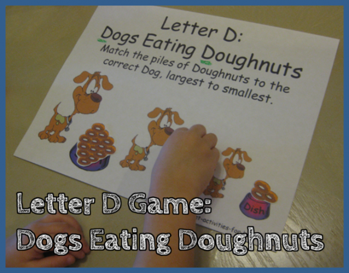 Letter D Alphabet Activities Dogs Eating Doughnuts Game