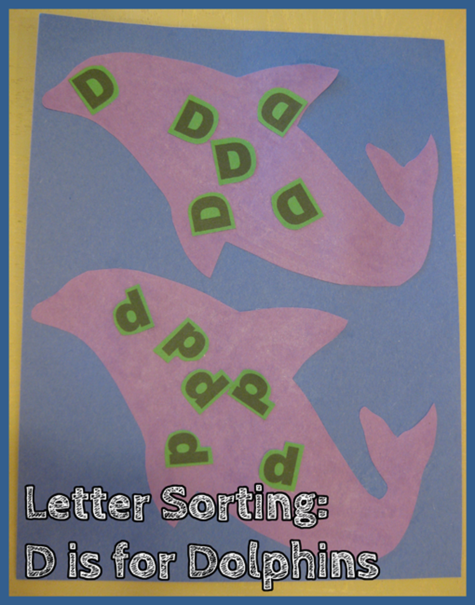 Letter D Alphabet Activities Letter Sorting D is for Dolphins