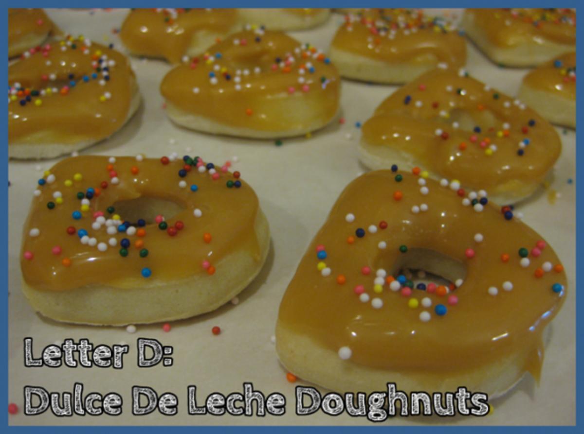 Letter D Alphabet Activities Dulce de Leche Doughnuts