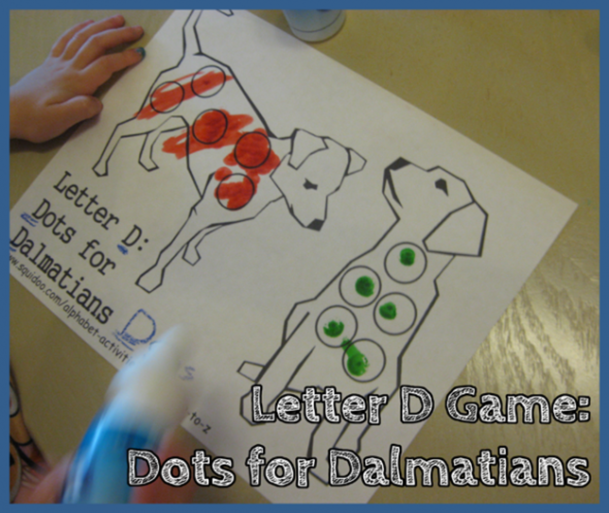 Letter D Alphabet Activities Dots for Dalmatians Game