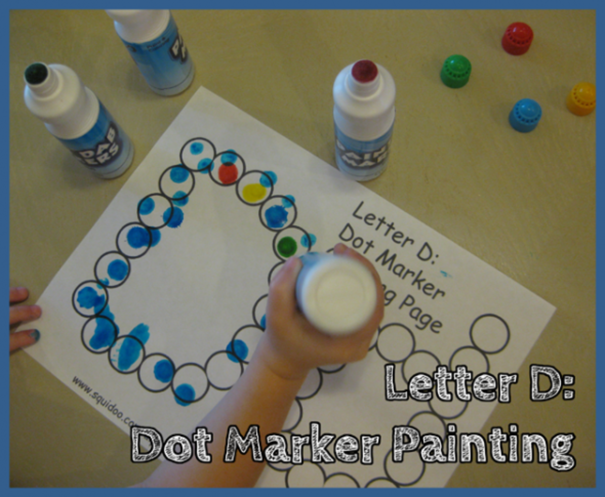 Letter D Alphabet Activities Dot Marker Coloring Pages