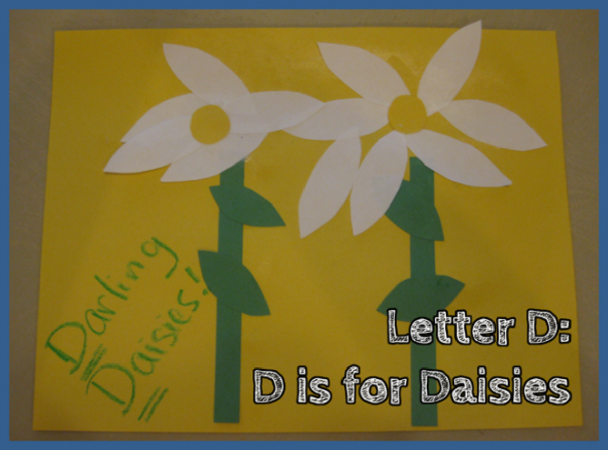 Letter D Alphabet Activities D is for Daisies