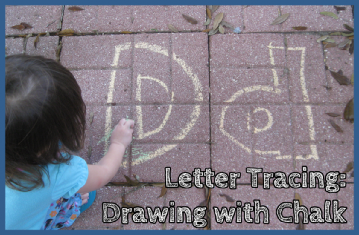 Letter D Alphabet Activities Chalk Letter Tracing