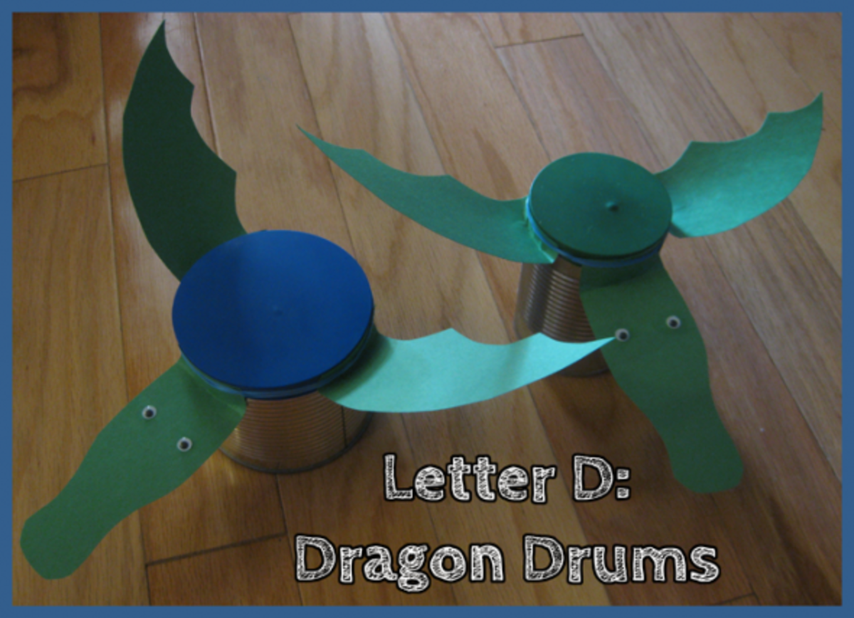 Letter D Alphabet Activities D is for Dragon Drums