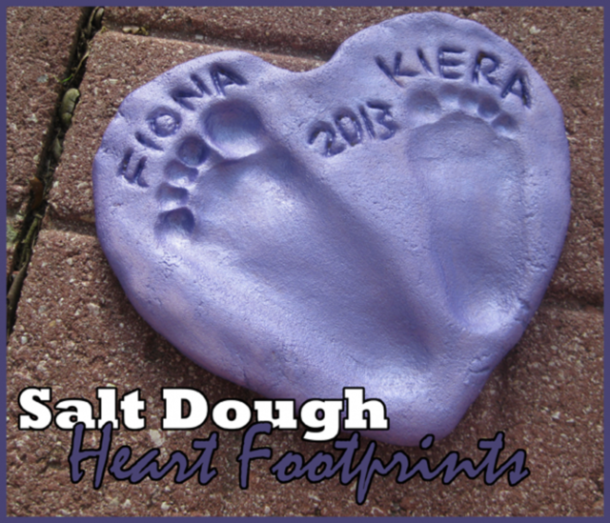 salt dough heart footprints gift toddler activity