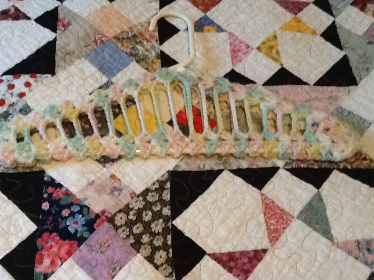 Crochet Clothes Hanger