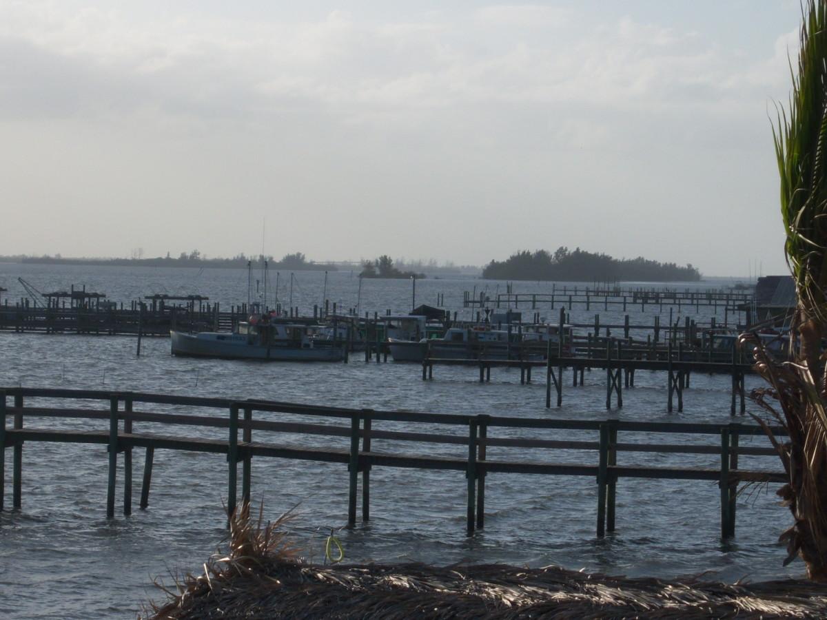 Back of  Captain Hiram's  Watercraft Rentals Dock