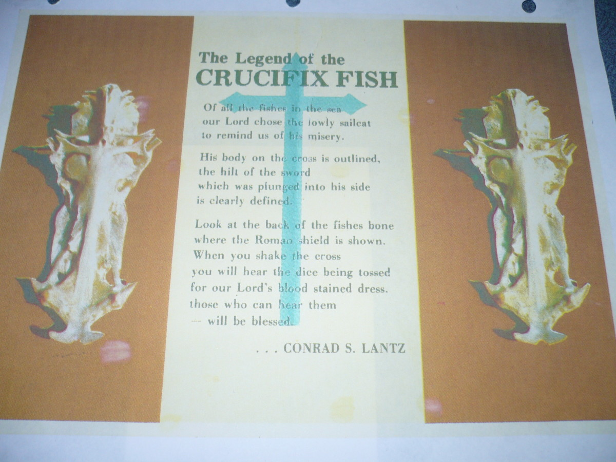Postcard of Crucifix poem by Conrad S. Lance