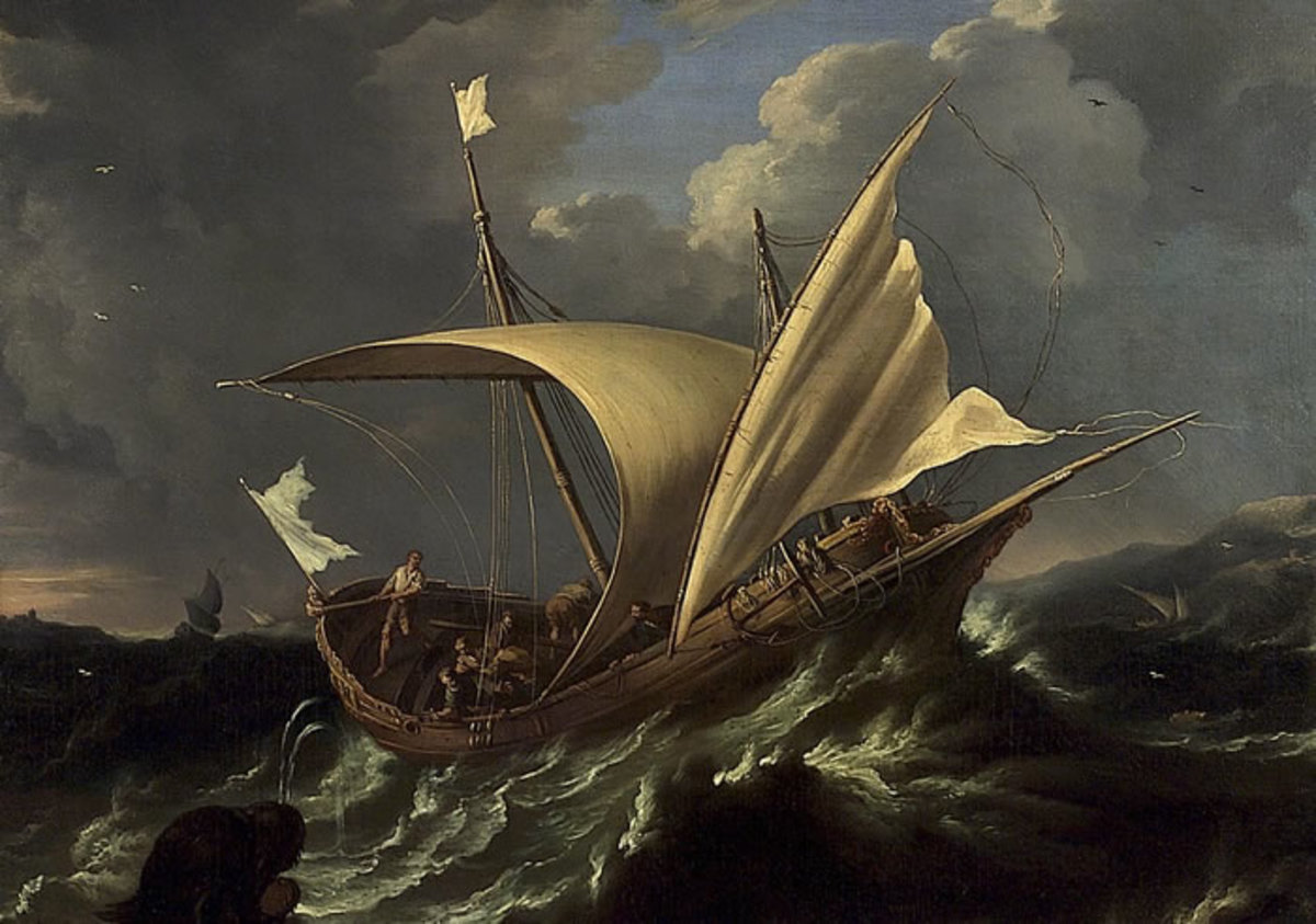 Depiction of ship Jonah was on.