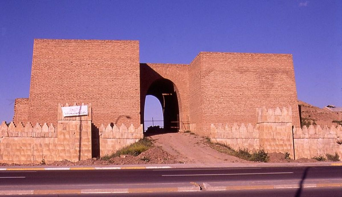 One of the Gates to the City of Nineveh rebuilt. At least five gates have been excavated.